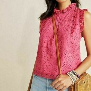 Anthropologie Tilly Eyelet Blouse by Maeve $90